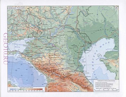Карта дорог юга России